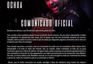 Se separan Elder Dayán y Rolando Ochoa